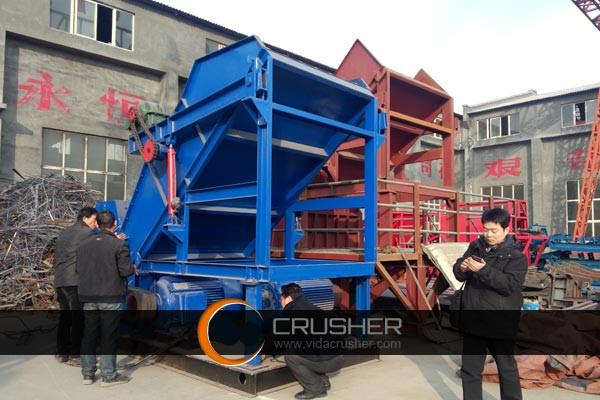 Test Run of Metal Crusher