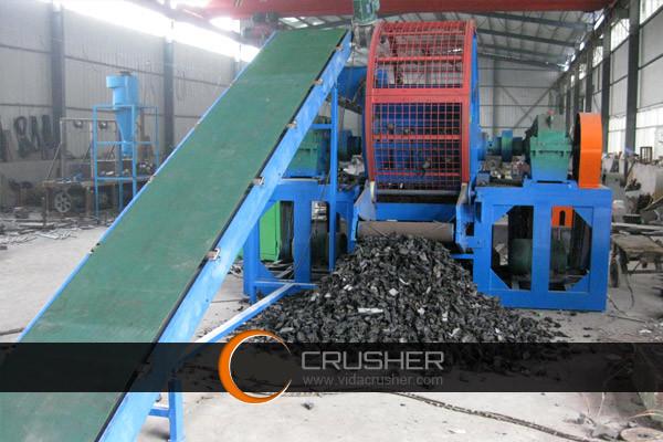 Tire Shredder Plastic Rubber Shredding Machine