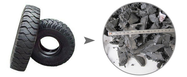 Tires recycling equipment tyre recycling production line for Scrap tractor tires